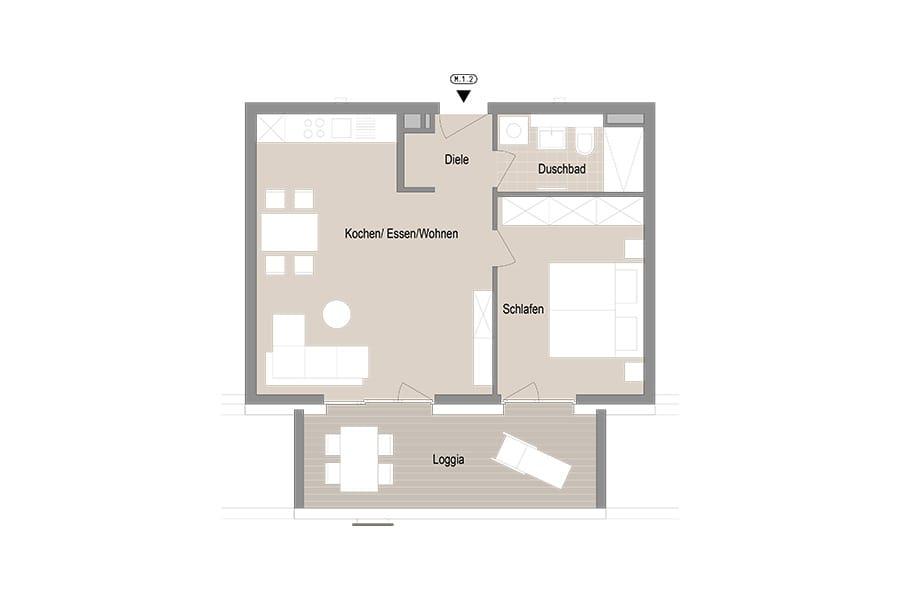 2-Zimmer Etagenwohnung
