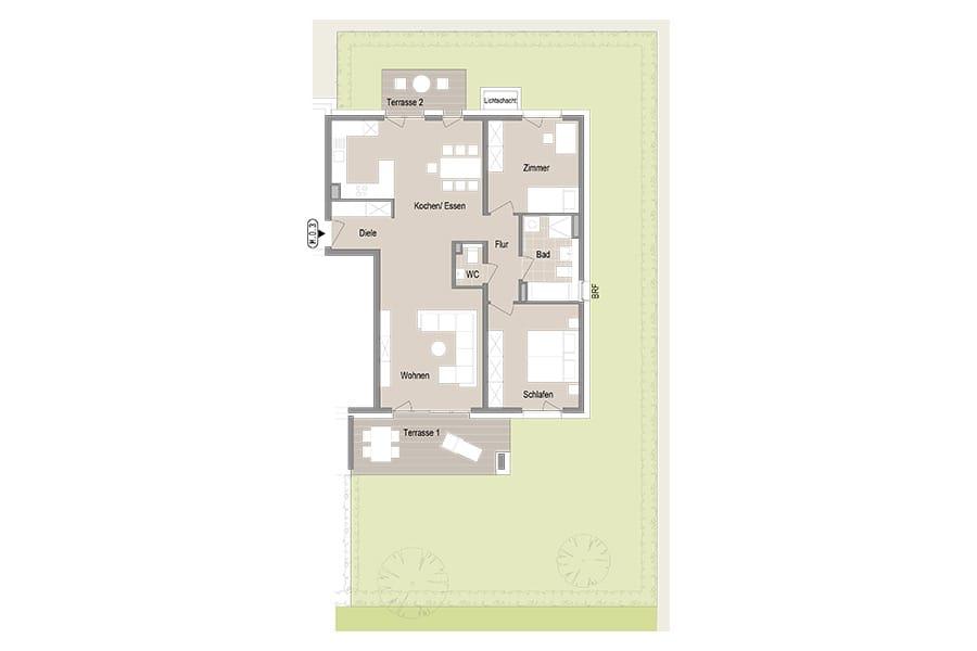 3-Zimmer Gartenwohnung