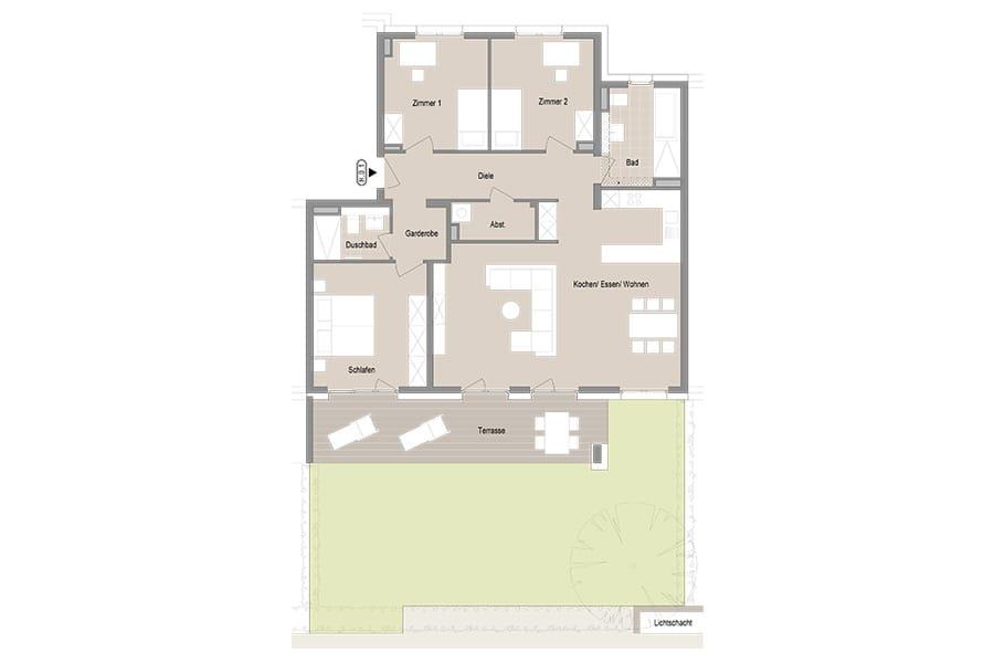 4-Zimmer Gartenwohnung