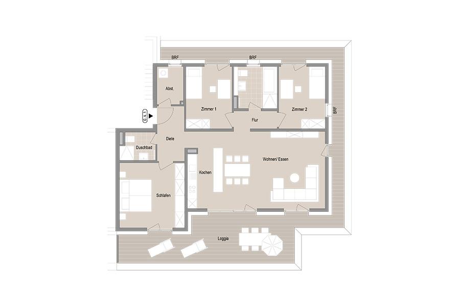 4-Zimmer Penthouse Wohnung