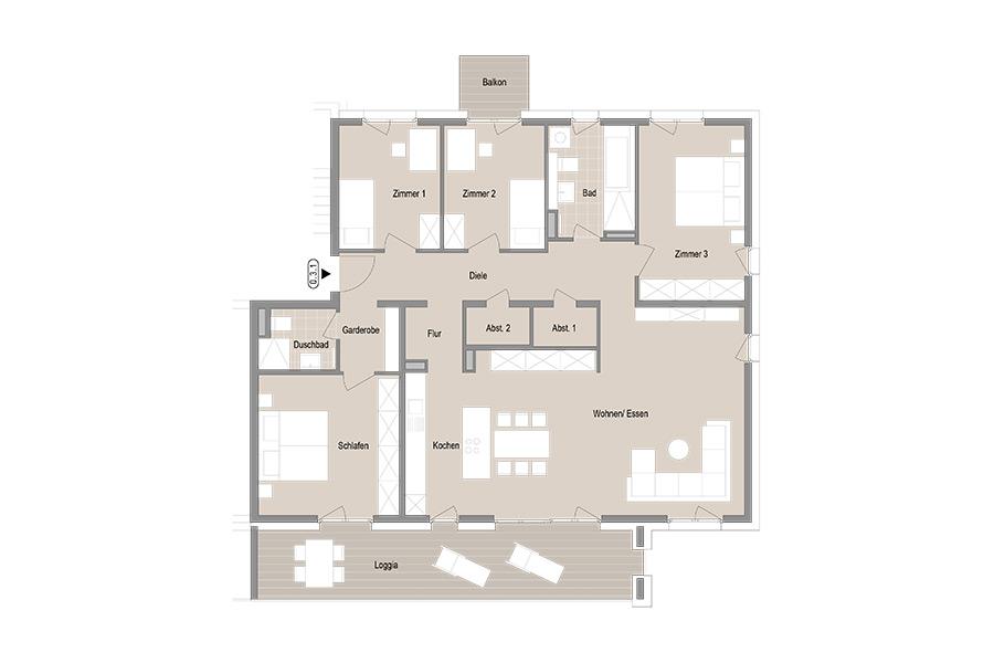 5-Zimmer Etagenwohnung